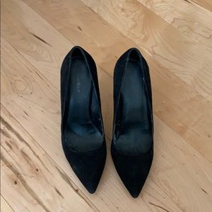 Calvin Klein black suede pumps